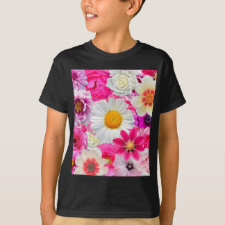 Pink flowers_ Sanchez Glory T-Shirt