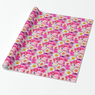 Pink flowers_ Sanchez Glory Wrapping Paper
