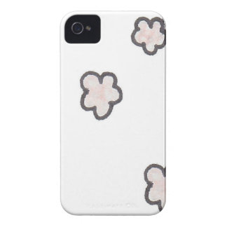 pink flowers, sketched iPhone 4 case