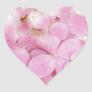 Pink Flowers Spring Heart Sticker