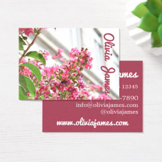 Pink Flowers Spring New York City Architecture NYC Business Card