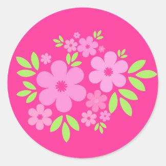 Pink flowers - Sticker