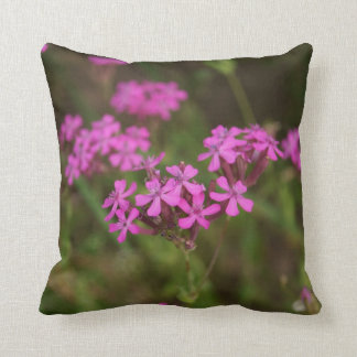 "Pink Flowers, Throw Pillow 16"" x 16"""