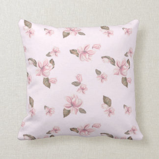 PINK FLOWERS THROW PILLOW 16 X 16