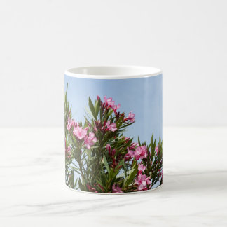 Pink flowers with a blue sky mug