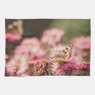 Pink Flowers with Butterfly Filtered 2 Towels