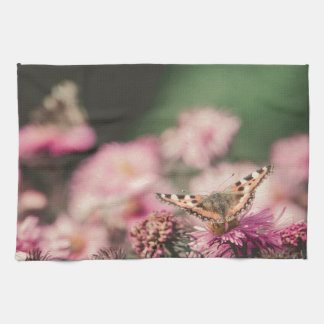 Pink Flowers with Butterfly Filtered 3 Hand Towel