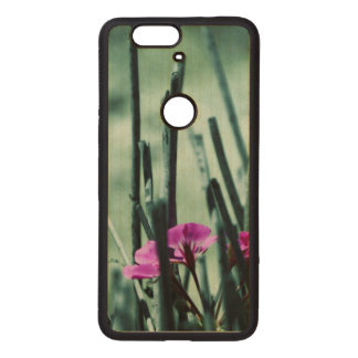 Pink Flowers Wood Nexus 6P Case