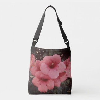 Pink Fluer  All-Over-Print Cross Body Bag