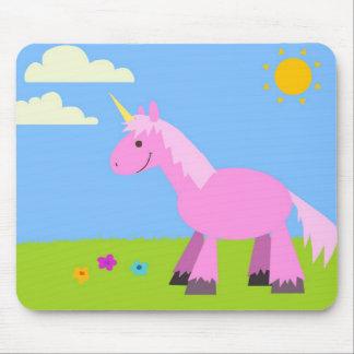 Pink Fluffy Unicorn Mouse Pad
