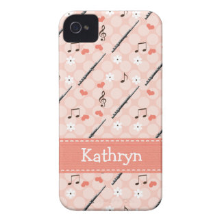 Pink Flute iPhone 4 4s Case-Mate Cover