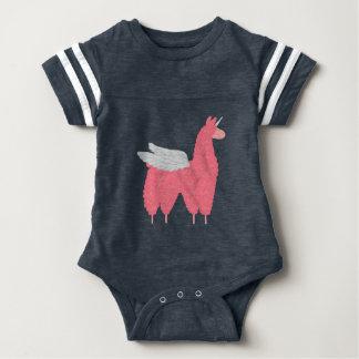 Pink Flying Llamacorn Baby Bodysuit