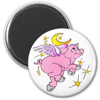 Pink Flying Pig #003 Magnet