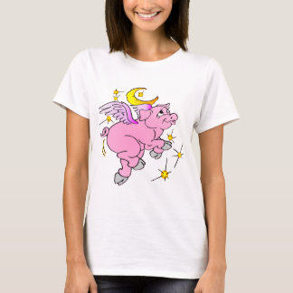 Pink Flying Pig #003 T-Shirt