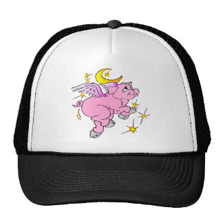 Pink Flying Pig #003 Trucker Hat