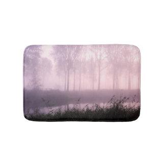 Pink foggy morning bath mat