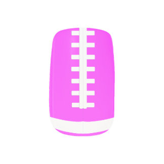 Pink Football Fingernail Art Wraps Minx Nail Art
