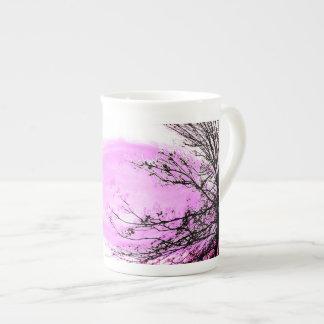 Pink Forest bone china mug by Jane Howarth