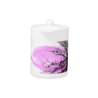Pink Forest small Tea pot by Jane Howarth