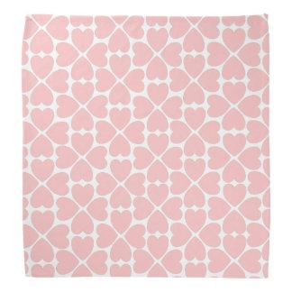 Pink Four Leaf Clover Hearts Bandana