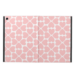 Pink Four Leaf Clover Hearts iPad Air Cover