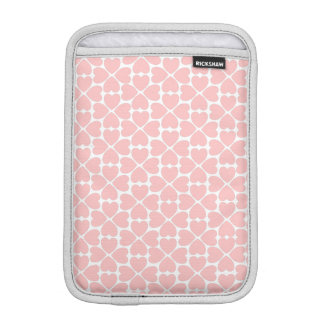 Pink Four Leaf Clover Hearts iPad Mini Sleeve