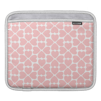 Pink Four Leaf Clover Hearts iPad Sleeve