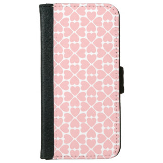 Pink Four Leaf Clover Hearts iPhone 6 Wallet Case