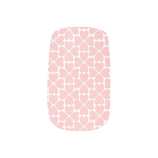 Pink Four Leaf Clover Hearts Minx Nail Art