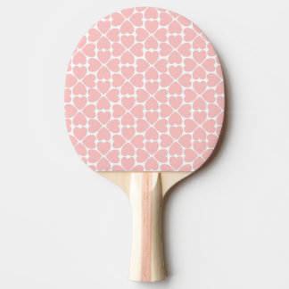 Pink Four Leaf Clover Hearts Ping Pong Paddle