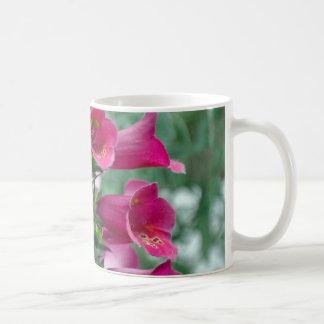 Pink foxglove flowers coffee mug