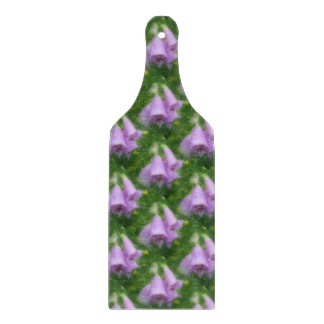 Pink Foxglove Flowers Nature Art Pattern Cutting Board