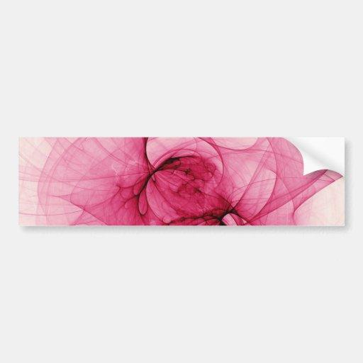 Pink Fractal Art Bumper Sticker