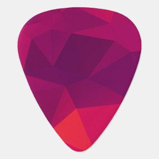 Pink Fractal Crystal pattern Guitar Pick