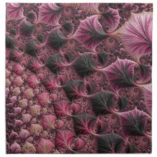 Pink Fractal Napkin