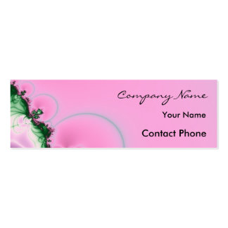 Pink Fractal Profile Card Template Double-Sided Mini Business Cards (Pack Of 20)