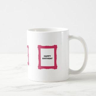 Pink Frame Happy Birthday Mug