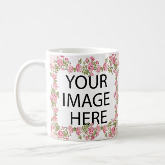 Pink Frame Template Add your Image and/or Text Coffee Mug
