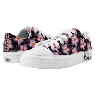 Pink Frangipane Flower Low-Top Sneakers
