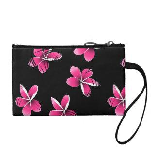 Pink frangipani coin purse