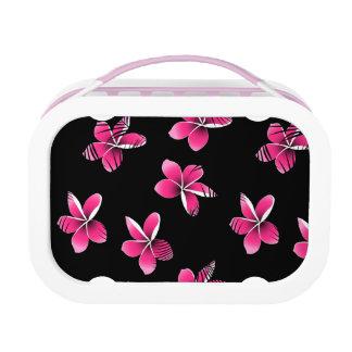 Pink frangipani lunch box