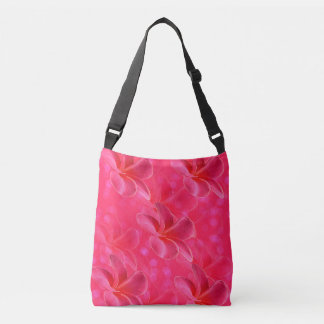 Pink Frangipani Passion, Full Print Cross Body Bag