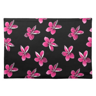 Pink frangipani placemat