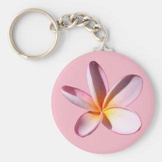 Pink Frangipani (Plumaria) Key Chain