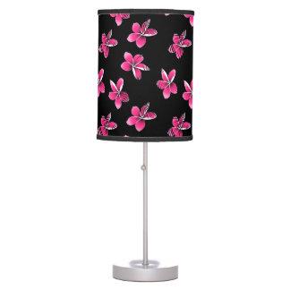 Pink frangipani table lamp
