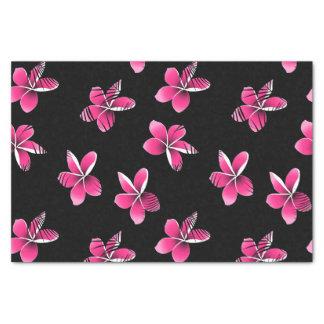 Pink frangipani tissue paper