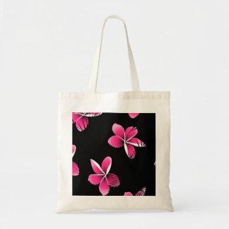 Pink frangipani tote bag