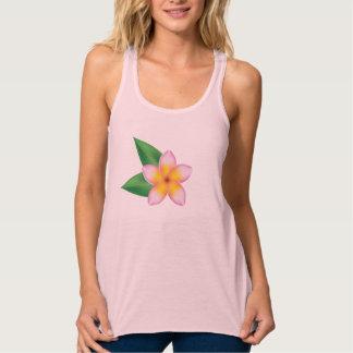 Pink Frangipani Tropical Flower Illustration Tank Top
