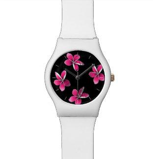 Pink frangipani watch