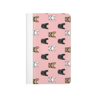 Pink French Bulldog notebook
